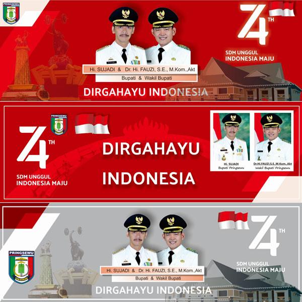 Banner HUT Kemerdekaan RI ke 74 Pemerintah Kabupaten Pringsewu