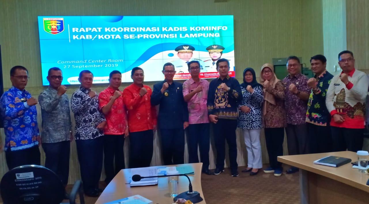 Kepala Dinas Kominfo Kabupaten Pringsewu mengikuti kegiatan Rapat Koordinasi Kepala Dinas Kominfo se-Propinsi Lampung