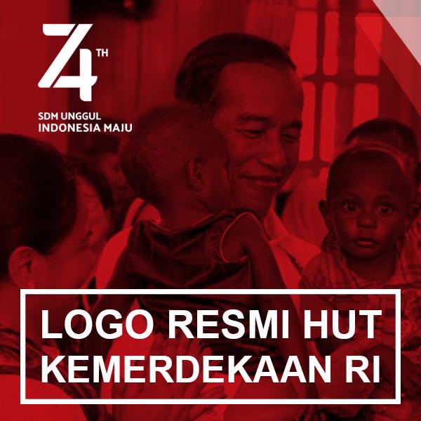 """Logo HUT RI ke-74 Tahun """"SDM Unggul Indonesia Maju"""""""