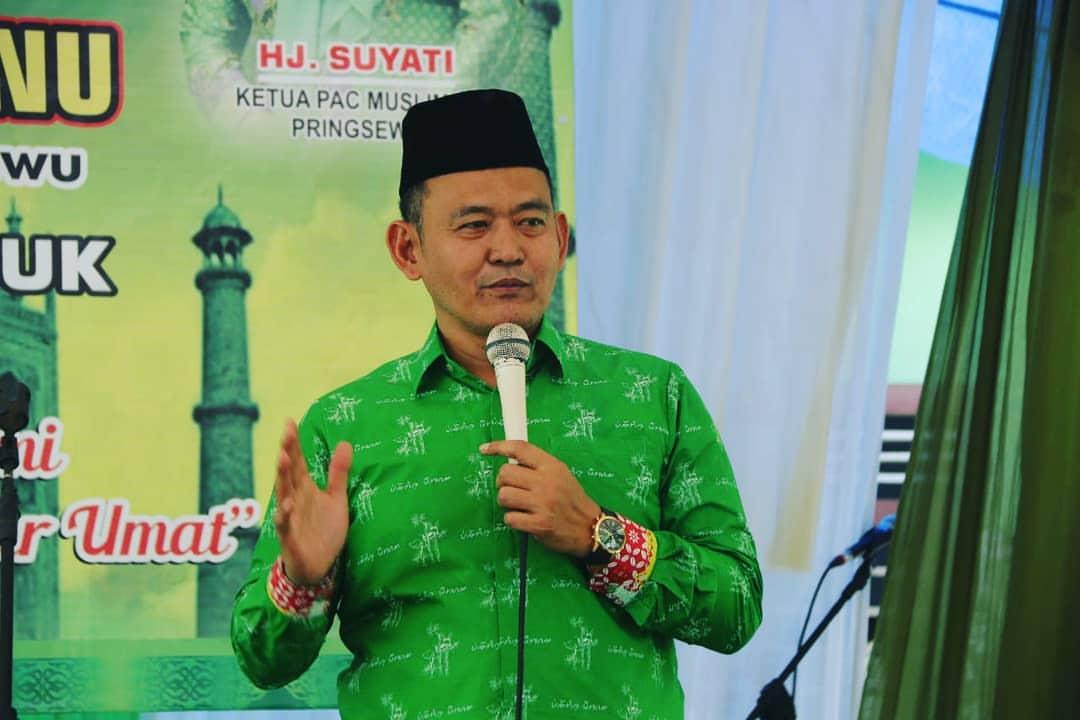 WAKIL BUPATI PRINGSEWU HADIRI PENGAJIAN MUSLIMAT NU PAJARESUK