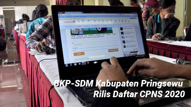 BKP-SDM Kabupaten Pringsewu Rilis Daftar CPNS 2020