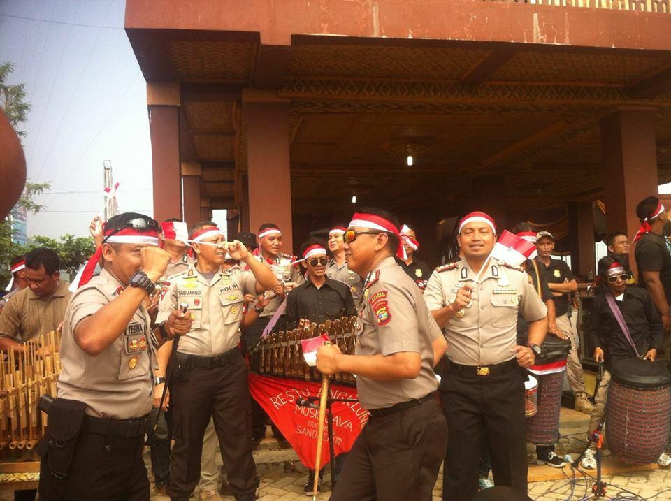 Pembuatan Video Ucapan HUT RI ke 72 Kapolda Lampung di Pringsewu 5