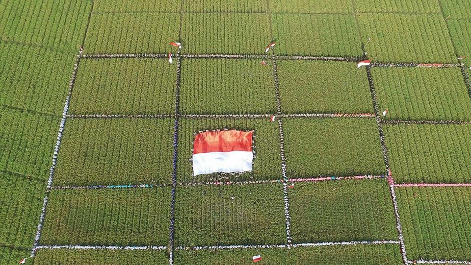 Pembuatan Video Ucapan HUT RI ke 72 Kapolda Lampung di Pringsewu