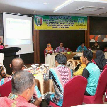 Aparatur Pekon Ikuti Sosialisasi Peningkatan Kapasitas SDM dan Traficking