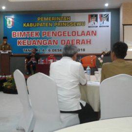 Bupati dan Wakil Bupati Pringsewu Hadiri Bimtek Pengelolaan Keuangan Daerah