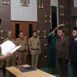 Pemerintah Kabupaten Pringsewu Melantik Tiga Pejabat Pejabat Administrator dan Pengawas
