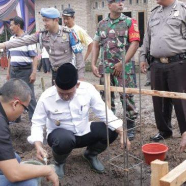 Peletakan Batu Pertama Mushola Al Ikhlas oleh Wakil Bupati Pringsewu